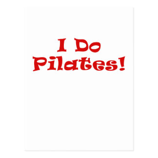 I Do Pilates Postcard