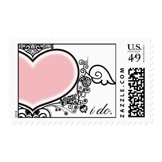 I do Pink Heart Stamps