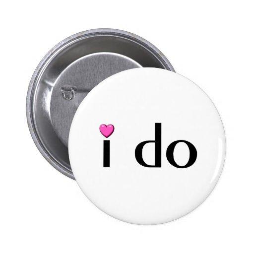I Do (Pink Hrt) Buttons