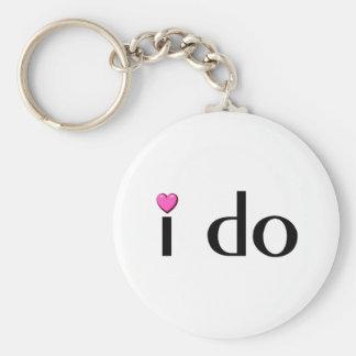 I Do (Pink Hrt) Keychain