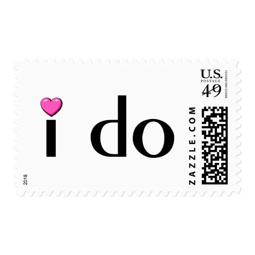 I Do (Pink Hrt) Postage Stamps