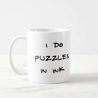 I do puzzles in ink classic white coffee mug