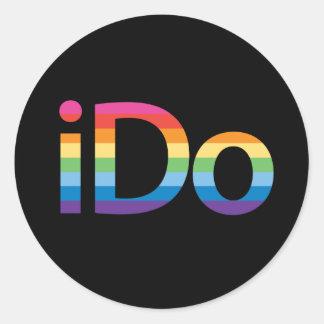I Do Rainbow Marriage Sticker