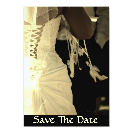 I DO, Save The Date 5x7 Paper Invitation Card