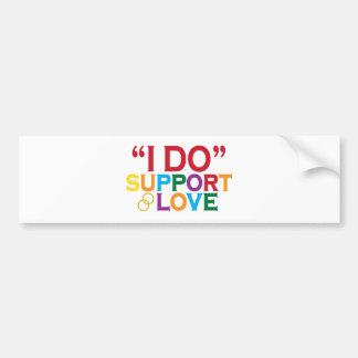 I DO support love (Prop 8) Bumper Sticker