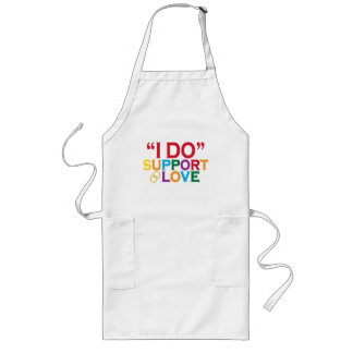 I DO support love (Prop 8) Long Apron