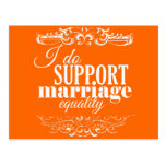 I DO SUPPORT MARRIAGE EQUALITY -.png Postcard