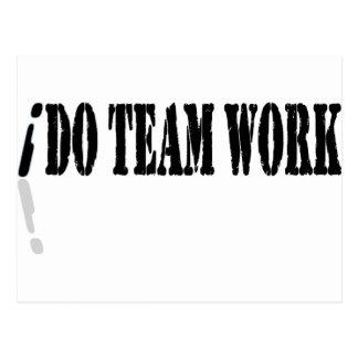 I Do Teamwork Post Cards