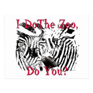 I Do The Zoo, Do You? Postcard