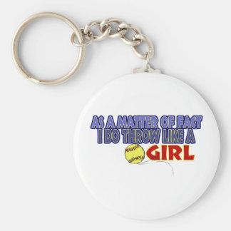 I Do Throw Like A Girl Key Chains