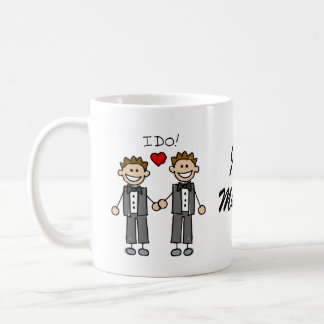 I Do Two grooms Coffee Mug