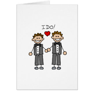 I Do Two grooms Greeting Card