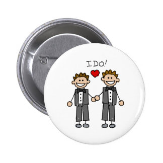 I Do Two grooms Pinback Button