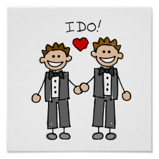 I Do Two grooms Poster