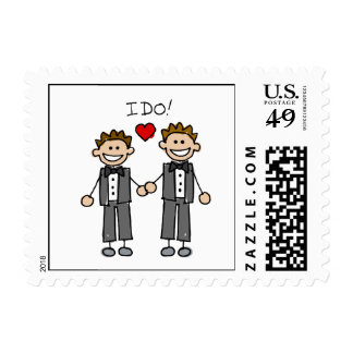 I Do Two grooms Stamp