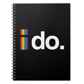 I DO WANT TO MARRY.png Spiral Notebook