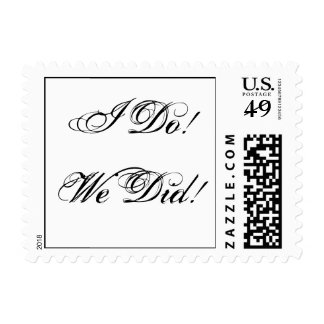 I Do! We Did! Postage