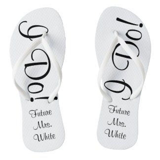 I Do! Wedding Day Bride Flip Flops