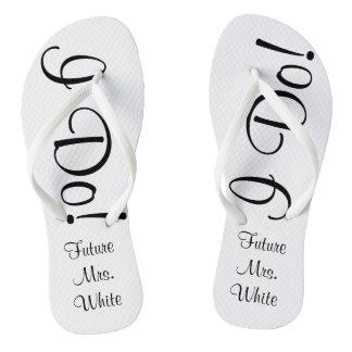 I Do! Wedding Day Bride Flip Flops