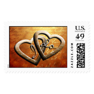 I Do Wedding Hearts Classic Stylish Invitation Postage