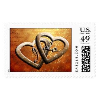 I Do Wedding Hearts Classic Stylish Invitation Postage