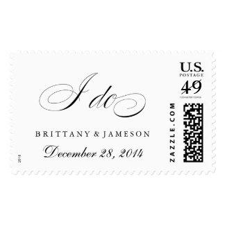 """I do"" Wedding Postage Stamp Wedding Date"
