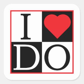 I DO Wedding Seal Square Sticker