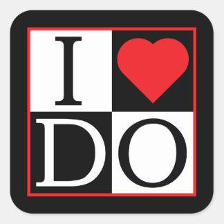 I Do Wedding Square Sticker