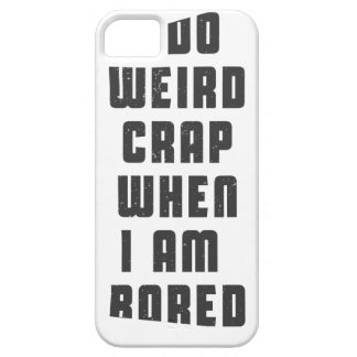 I do weird crap, when I am bored iPhone SE/5/5s Case