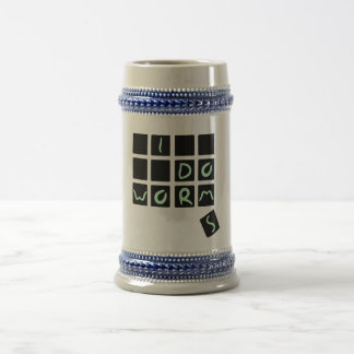 i do worms beer stein