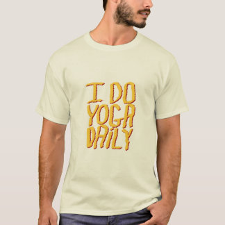 I Do Yoga Daily. Yellow. T-Shirt
