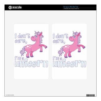 i don´t care i´m a unicorn kindle fire decal