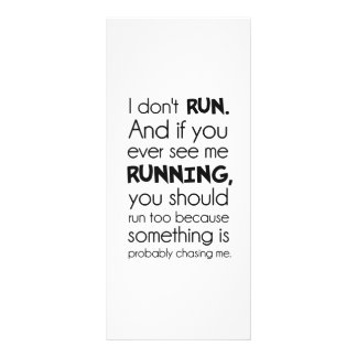 I Don t Run Something Is Probably Chasing Me Customized Rack Card