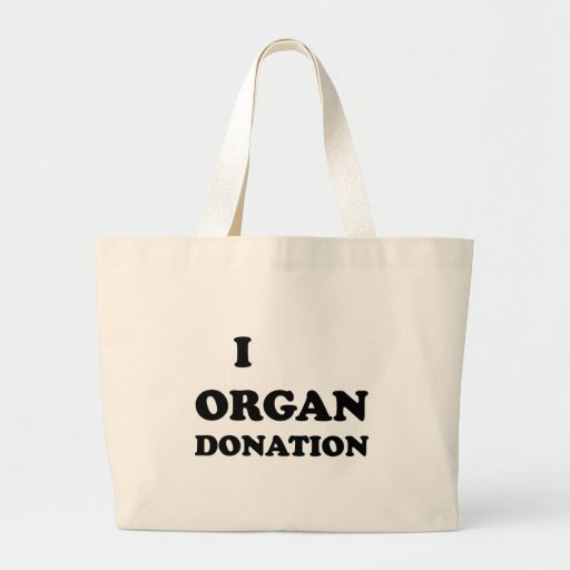 I donación de órganos bolsa lienzo
