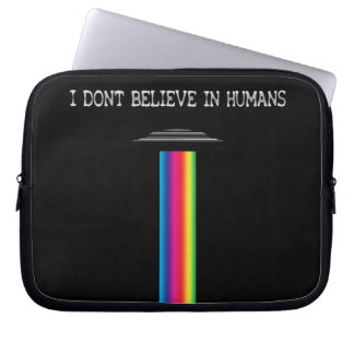 I don't believe in humans laptop sleeve