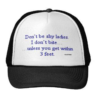 I Don't Bite Unless... joke from wiseDUMB Mesh Hat