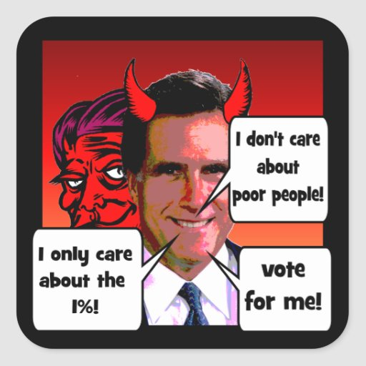 I don't care about poor people square sticker