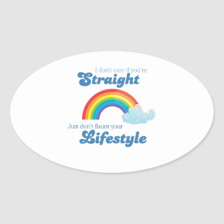 I don't care if you're straight, just don't flaunt oval sticker