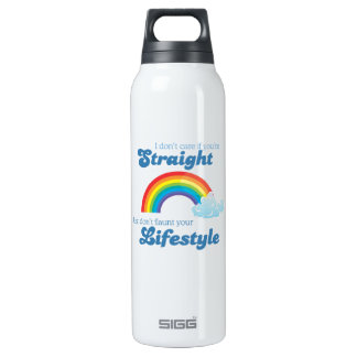 I DON'T CARE IF YOU'RE STRAIGHT SIGG THERMO 0.5L INSULATED BOTTLE