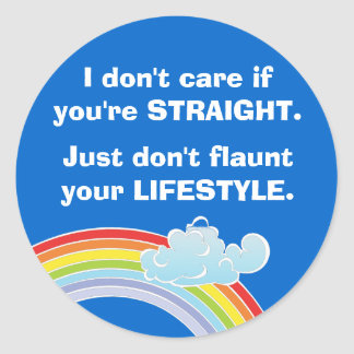 I don't care if you're straight Sticker