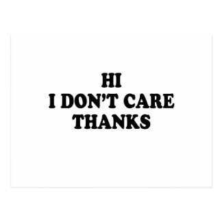 i don't care postcard