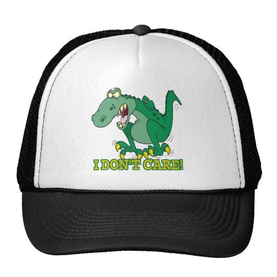 i dont care t-rex temper tantrum trucker hat