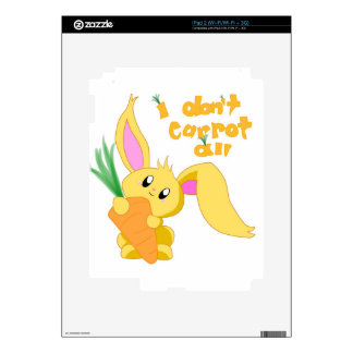 I Don't Carrot All iPad 2 Skins
