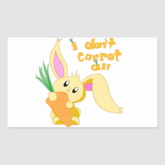 I Don't Carrot All Stickers