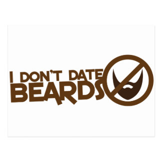 I dont date beards postcard