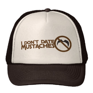 i dont date mustaches trucker hat