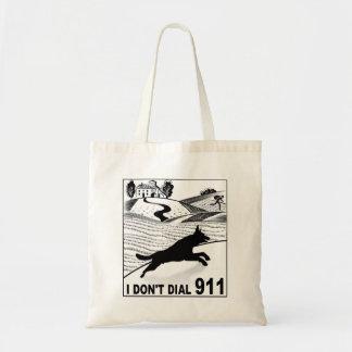 I don't dial 911 tote bag