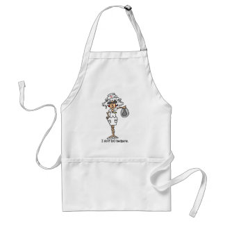 I don't do bedpans! adult apron