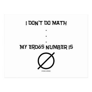 I Don't Do Math ... My Erdős Number Is Empty Set Postcard