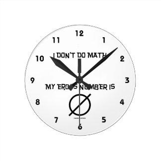 I Don't Do Math ... My Erdős Number Is Empty Set Round Clock